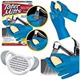Tater Mitts quick Peeling Potato Gloves with Bonus Slicer