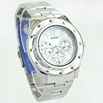 Guess U10665L1 Silver Stainless Steel & Mother of Pearl Watch