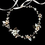 B Style-Gold Tone : Oureamod Gold Tone Wedding Headbands Freshwater Pearls Prom Bridal Hair Accessories