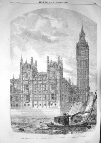 1857 Clock Tower Speakers Residence Houses Parliament