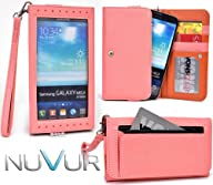  EXPOSE   Coral Wristlet Wallet Phone Case Cover May Fit Samsung Galaxy Mega 5.8 I9150 & NuVur…