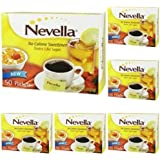 Lot of 6 Nevella No Calorie Sweetener 50 Packets/Box Tastes Like Sugar!