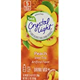 Crystal Light On The Go Peach Tea, 10-Count Boxes (Pack of 4)