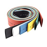 uxcell 14mm Heat Shrink Tubing Wrap Sleeving Tube 1.8Ft Assorted Color 6pcs from uxcell