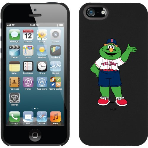 Great Sale Boston Red Sox - Mascot design on a Black iPhone 5 Thinshield Snap-On Case by Coveroo