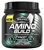 Muscletech Amino Build, Fruit Punch,  30 serving, Branched Chain Amino Acid (BCAA) Supplement with Betaine