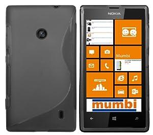 mumbi S-TPU Schutzhülle Nokia Lumia 520 Hülle transparent schwarz