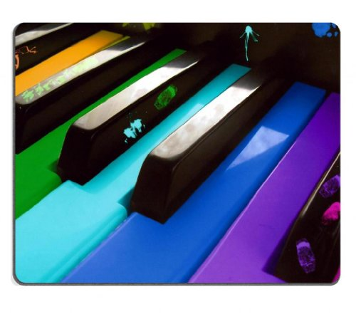 Music Piano Keys Rainbow Colors Mouse Pads Customized Made To Order Support Ready 9 7/8 Inch (250Mm) X 7 7/8 Inch (200Mm) X 1/16 Inch (2Mm) High Quality Eco Friendly Cloth With Neoprene Rubber Msd Mouse Pad Desktop Mousepad Laptop Mousepads Comfortable Co front-389005