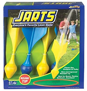 POOF-Slinky - Ideal Jarts Dart Target Lawn Game with Safe Round Tips, 0X0780BL