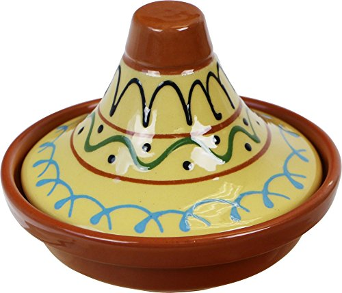 Reston Lloyd Eurita Terra Cotta Mini Tagine, 91707, 1/2 Cup Sauce/Side Dish, Seville Pattern, Set of 2