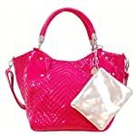 Big Buddha Pink Leather Handbag Ziggy Fuschia Quilted