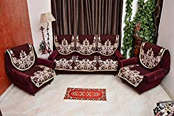 RSHP STYLISH 5 SEATER MAROON SLIP COVER
