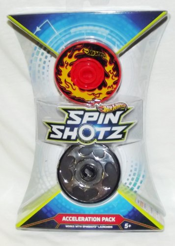Hot Wheels--Spin Shotz Hyper Speed Track Discs: Acceleration Pack (Y1634) - 1