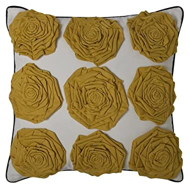 Product Image DwellStudio® for Target® Yellow Rosettes Decorative Pillow
