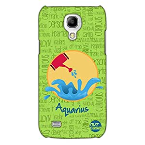 Designer Samsung Galaxy S4 Mini Case Cover Nutcase - - Star Signs - Aquarius Green