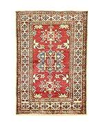 L'EDEN DEL TAPPETO Alfombra Uzebekistan Rojo/Beige 110 x 160 cm