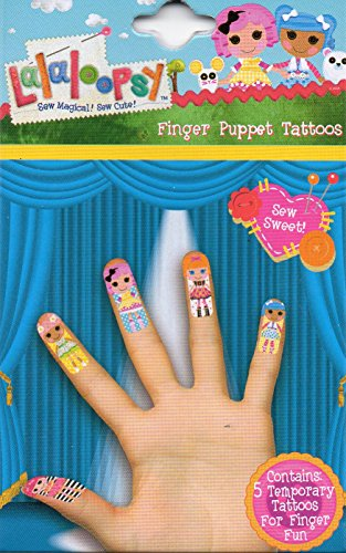 Lalaloopsy Finger Tattoos (5 Temporary Tattoos) Sew Sweet