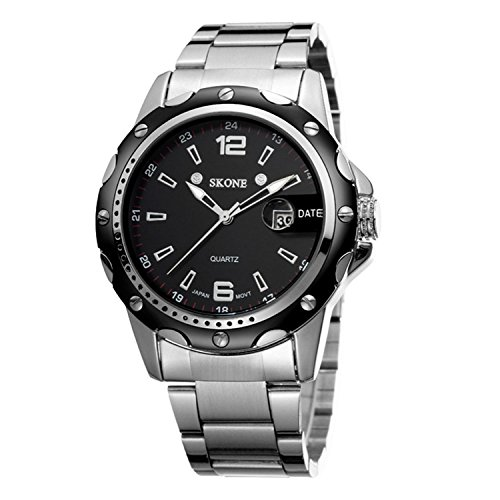 PALADA Men's T7147BG Analog Quartz Wrist Waterproof Stainless Steel Watches (Men Steel Watch compare prices)