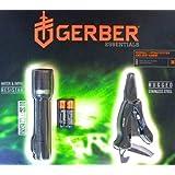 Gerber Crucial Strap Cutter Multi-tool and Iris LED Flashlight Combo