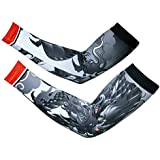Arm Sleeves 1 Pair Compression - Men Women Youth Basketball Shooter Sleeve - Best Protection For Lymphedema -... - B01G36GUT4