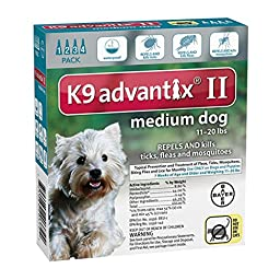 K9 Advantix II for Dogs 11 to 20 lbs - 4 Count