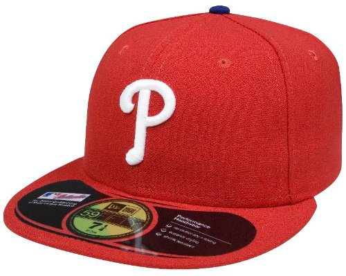 MLB Philadelphia Phillies Authentic On Field Game 59FIFTY Cap, 7 1/4, Red at Amazon.com