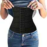 Junlan Slimming Body Waist Trainer Shaper Tummy Cincher Girdle Corset (XL, Black)