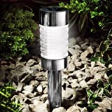 Gardman Solar Powered Black Nickel Glass Marker Light