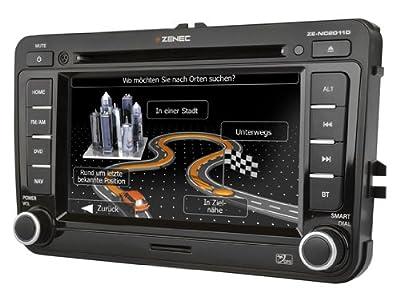 Zenec ZE-NC2011D Navigationssystem ( 6.5 Zoll Display,starrer Monitor, 16:9,Kontinent ) von Zenec - Reifen Onlineshop
