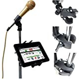ChargerCity Custom Music/ Microphone Tablet Stand Mount with Multi Swivel Adjustment Holder for New Apple IPAD MINI Google Nexus 7 KINLE Fire BN Nook HD Color Samsung Galaxy Tab 7 7.7 & other 7″ to 8″ Tablets Reviews