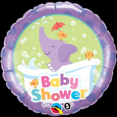 "Pioneer Balloon Company Baby Shower Elephant Balloon, 18"", Multicolor"