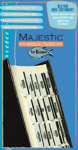 Majestic Bible Tabs for Students, Claire, Ellie