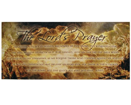 Ohio Wholesale Lords Prayer Canvas Wall Art, Large, from our Inspirational Collection (Daily Bread Bible Verses compare prices)
