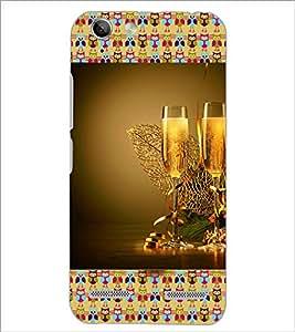 PrintDhaba Wine Glasses D-3612 Back Case Cover for LENOVO VIBE K5 (Multi-Coloured)