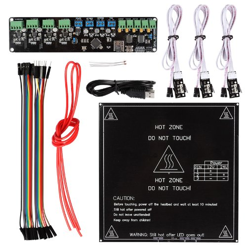 Sainsmart Melzi + A4988 + Mechanical Endstop + Mk2B Heatbed 3D Printer Kit For Reprap Arduino (General)
