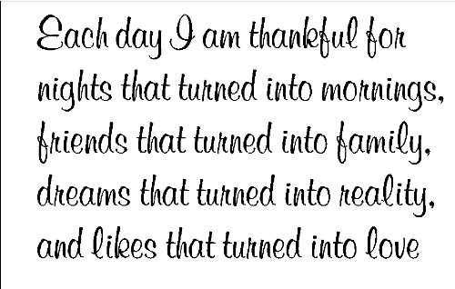Each day I am thankful for....Inspirational Wall Quote Words Sayings Removable Lettering 12