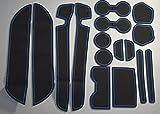 KINMEI(キンメイ) エルグランド ELGRAND E52 青 専用設計 インテリア ドアポケット マット ドリンクホルダー 滑り止め ノンスリップ 収納スペース保護 日産 NISSAN52-b
