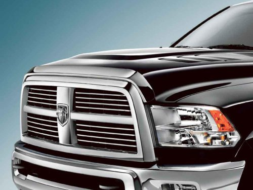 10-16 Dodge RAM Truck 2500 3500 HD Front Air Deflector Triple Chrome Plated Hood Guard Bug Deflector (Truck Parts Dodge Ram 2500 compare prices)
