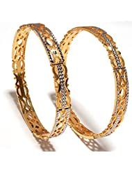Bangles Gold Look High Quality One Gram Gold Plated Handmade Real Bangles - B00Q1GGMBS