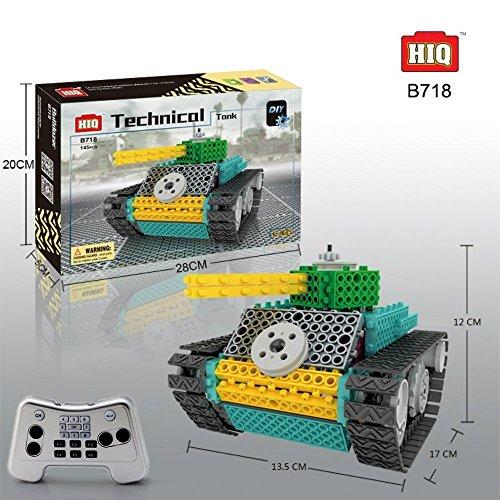 BAA SHOP Remote Control Tank Building kit RC Kids Electric DIY Robot Interlocking Building Blocks Kit for Kids/Toddlers (Electric Robot Kit compare prices)