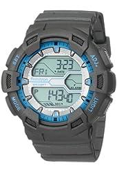 Armitron Sport Men's 40/8246MGRY Grey Resin Digital World TimeSport Chronograph Watch