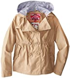 Dollhouse Big Girls'  Trench Rain Coat with Detachable Hood