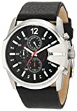 Diesel Men's DZ4182 Black Calf Skin Quartz Watch with Black Dial