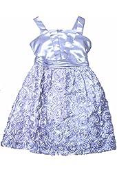 RARE EDITIONS Big Girls Silver Shantung Origami Bodice To Soutach Dress