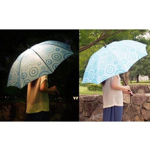 雨傘 レディース 光るファッション傘 bright night ブライトナイト 大人用  [ Cloud Burst]