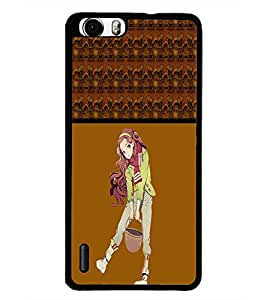 PrintDhaba Cute Girl D-4274 Back Case Cover for HUAWEI HONOR 6 (Multi-Coloured)