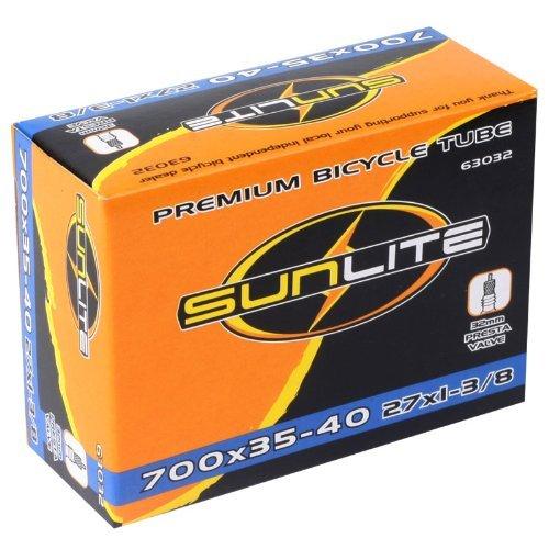 Sunlite Bicycle Tube, 700 x 35-40 (27 x 1-3/8) 32mm PRESTA Valve
