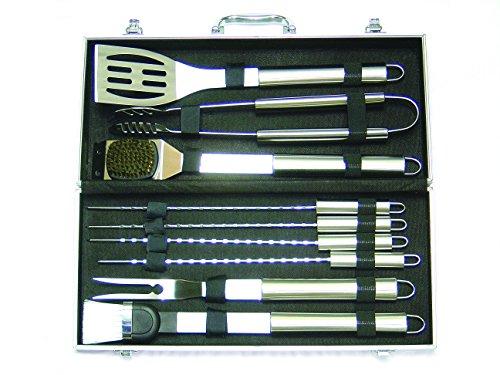 Blinky 78935-20 Set-Valigia di 10 Pezzi per Barbecues, Inox