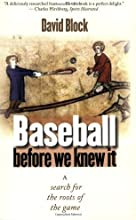 Baseball before We Knew It A Search for the Roots of the Game