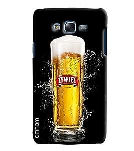 Omnam Beer Glass Fully Filled Printed Designer Back Cover Case For Samsung Galaxy J7